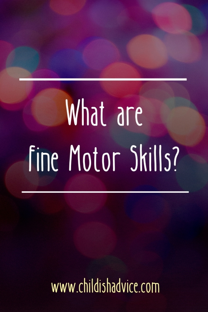 What are Fine Motor Skills?