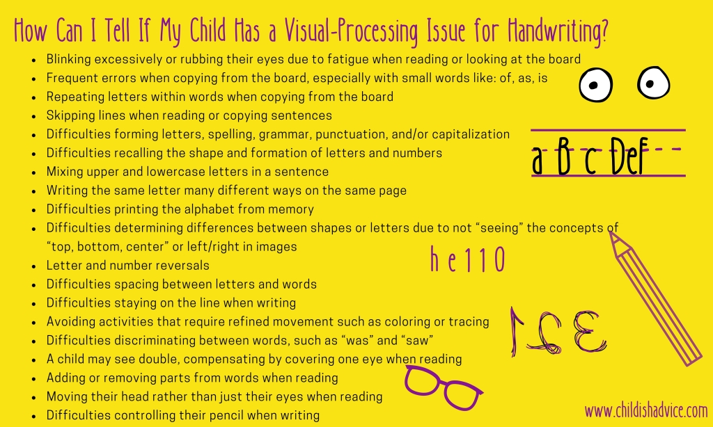 How Can I Tell If My Child Has A Visual-Processing Issue for Handwriting