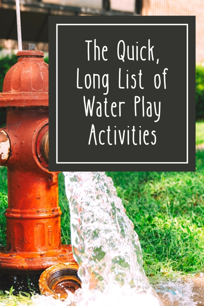 The Quick, Long List of Water Activities